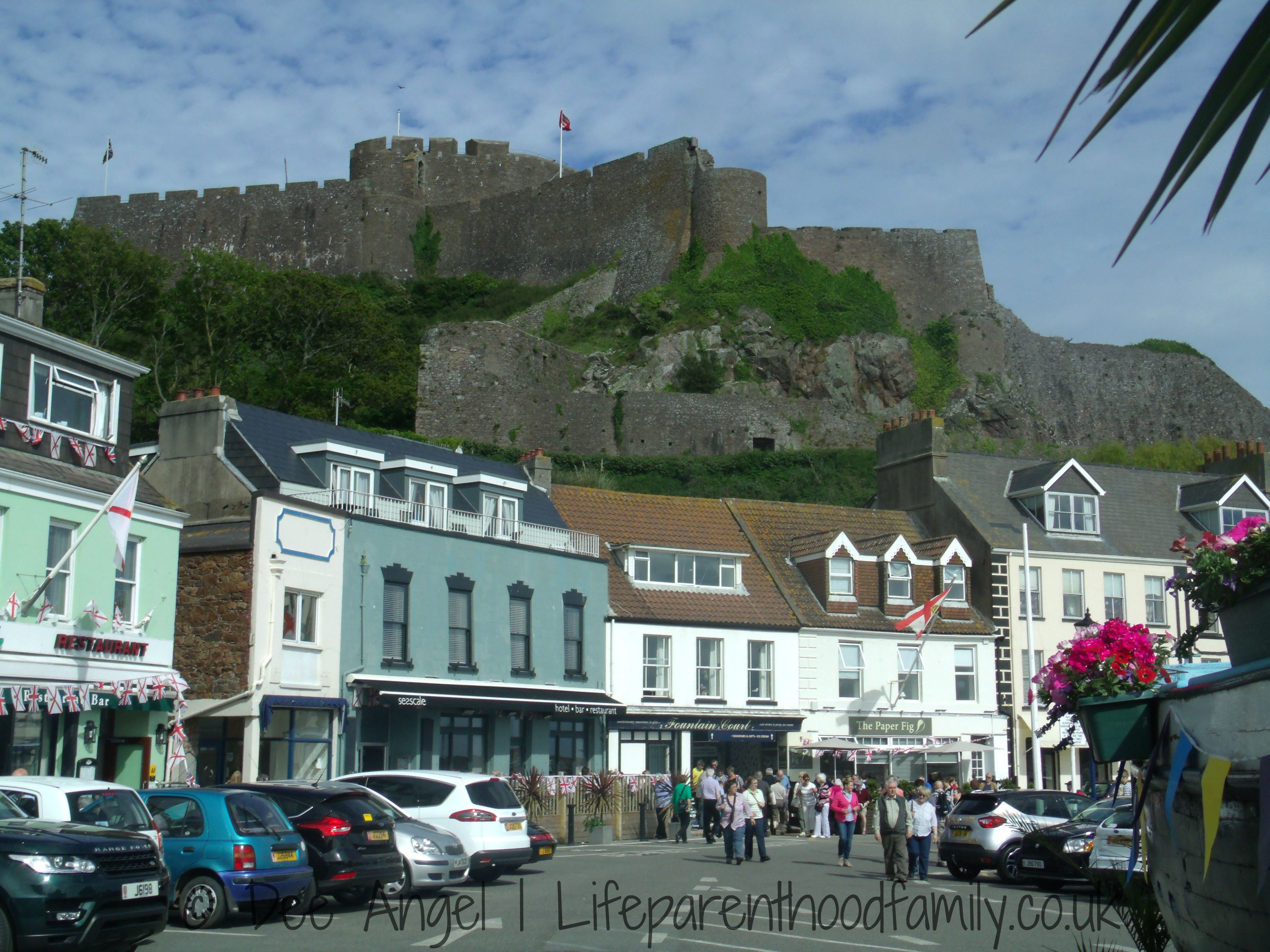 Mont Orgueil Castle above Gorey Pier | Lifeparenthoodfamily.co.uk
